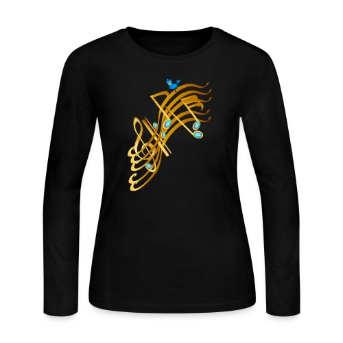 Golden Notes - Women's Long Sleeve Jersey T-Shirt
