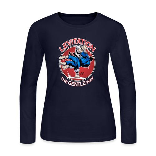 Judo Levitation for dark shirt - Women's Long Sleeve Jersey T-Shirt