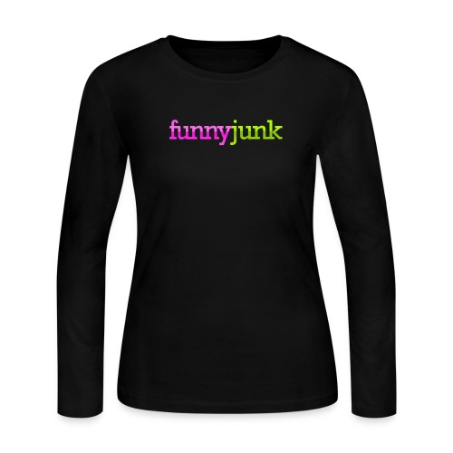 FunnyJunk Logo - Women's Long Sleeve Jersey T-Shirt