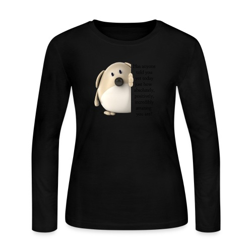 amazing dog (for light) - Women's Long Sleeve Jersey T-Shirt
