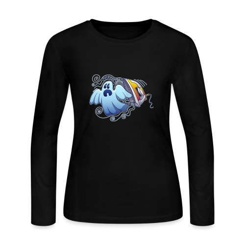 Heated iron, the worst nightmare for an evil ghost - Women's Long Sleeve Jersey T-Shirt