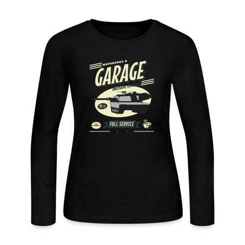 Vintage Tank Mechanic - Women's Long Sleeve Jersey T-Shirt