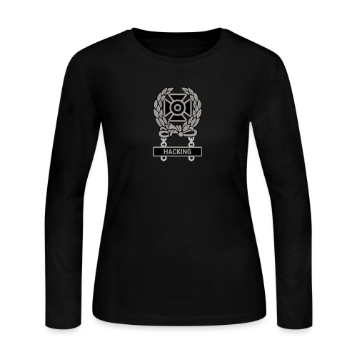 Expert Hacker Qualification Badge - Women's Long Sleeve Jersey T-Shirt