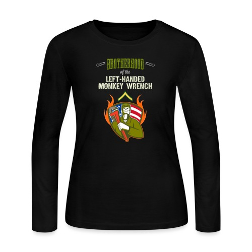 Brotherhood of the Left-Handed Monkey Wrench - Women's Long Sleeve Jersey T-Shirt
