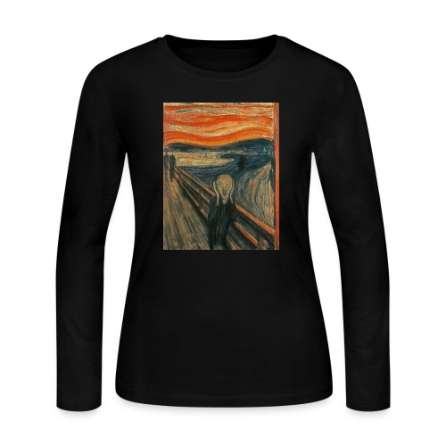 The Scream (Textured) by Edvard Munch - Women's Long Sleeve Jersey T-Shirt