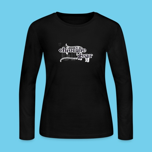 Chlorine Gear Textual stacked Periodic backdrop - Women's Long Sleeve Jersey T-Shirt