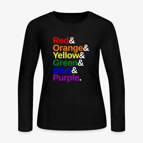LGBTQ Color List - Women's Long Sleeve Jersey T-Shirt