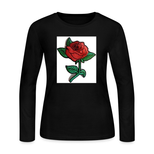 t-shirt roses clothing🌷 - Women's Long Sleeve Jersey T-Shirt