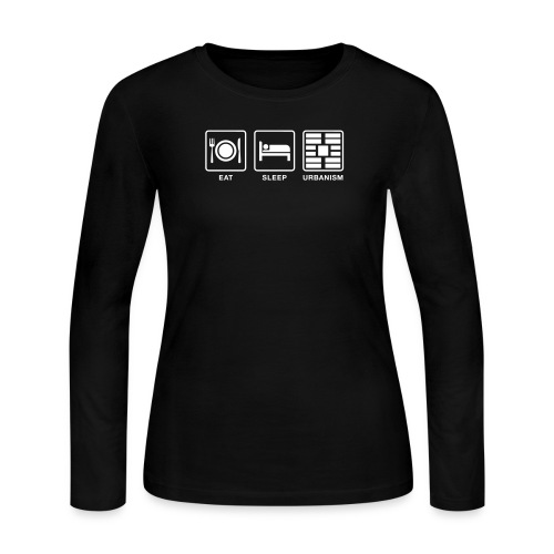 Eat Sleep Urb big fork - Women's Long Sleeve Jersey T-Shirt