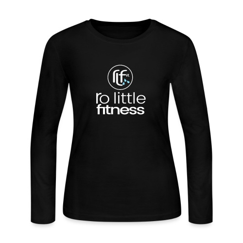 Ro Little Fitness - outline logo - Women's Long Sleeve Jersey T-Shirt