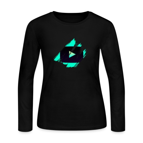 DRFT Clothing: Cyan Youtube is Life - Women's Long Sleeve Jersey T-Shirt