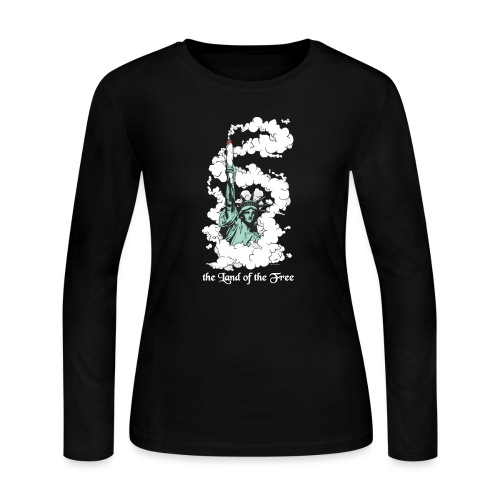 Amercia - the Land of the Free - Cannabis - Women's Long Sleeve Jersey T-Shirt