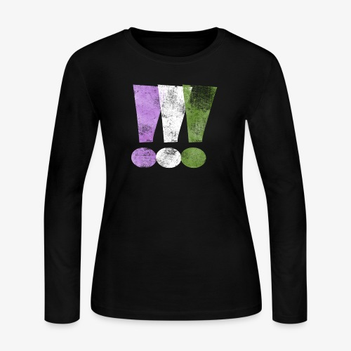 Genderqueer Pride Exclamation Points - Women's Long Sleeve Jersey T-Shirt