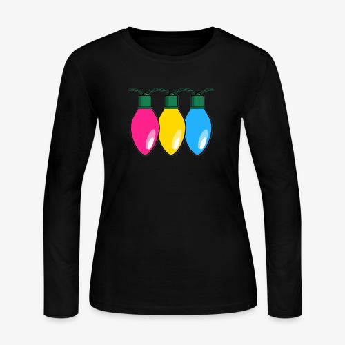 Pansexual Pride Christmas Lights - Women's Long Sleeve Jersey T-Shirt