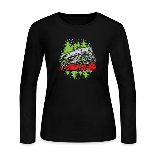 Ugly Christmas Monster - Women's Long Sleeve Jersey T-Shirt