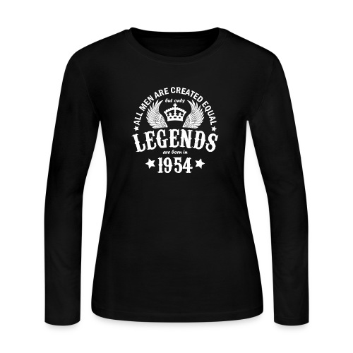 Legends are Born in 1954 - Women's Long Sleeve Jersey T-Shirt