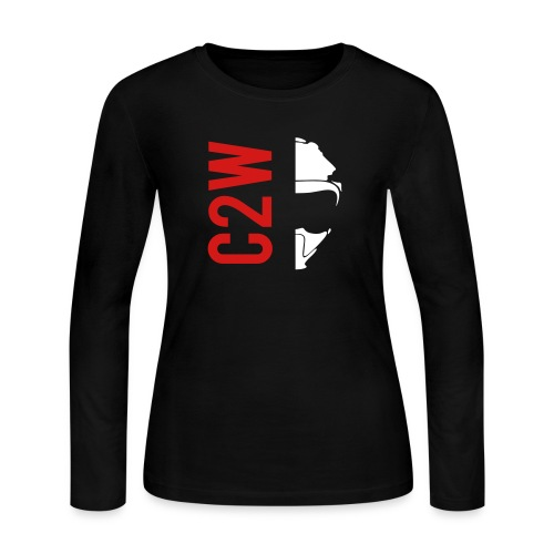 ChaseOnTwoWheels Split Logo - Women's Long Sleeve Jersey T-Shirt