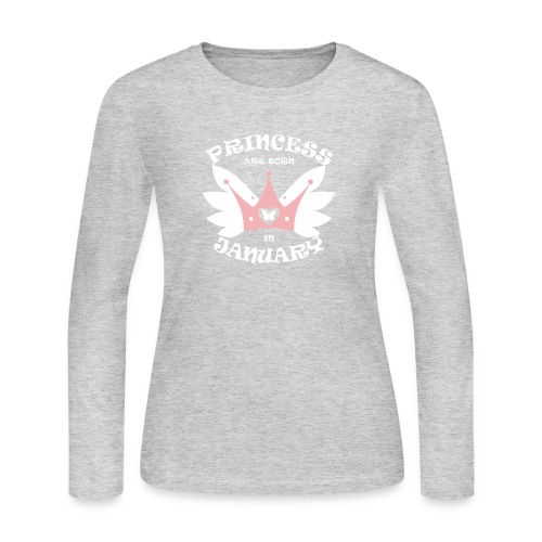 Princess Are Born In January - Women's Long Sleeve Jersey T-Shirt