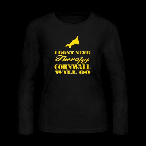 Don't need therapy/Cornwall - Women's Long Sleeve Jersey T-Shirt