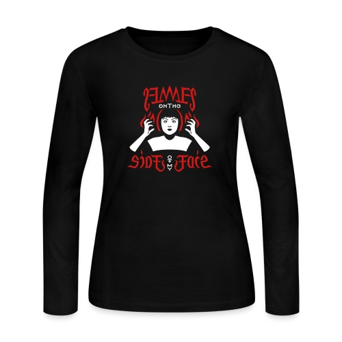 Flames on the Sides of my Face - Women's Long Sleeve Jersey T-Shirt