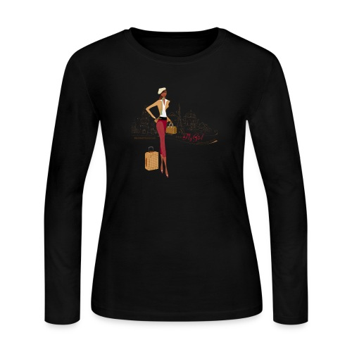 BrowOutfitPNG png - Women's Long Sleeve Jersey T-Shirt