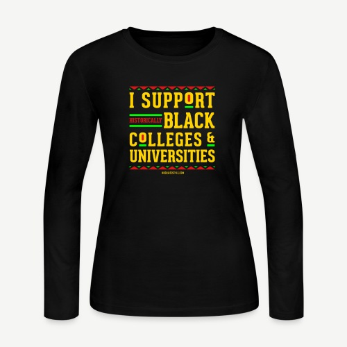 I Support HBCUs - Women's Long Sleeve Jersey T-Shirt