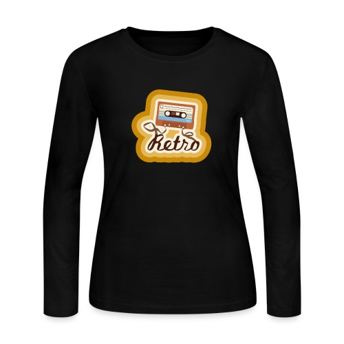 Retro-Cassette - Women's Long Sleeve Jersey T-Shirt