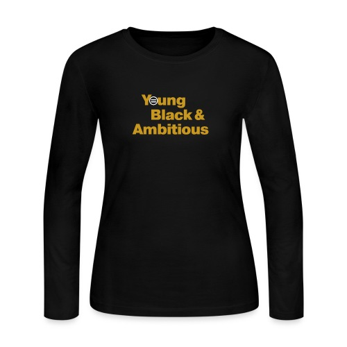 YBA Black and Gold Shirt2 - Women's Long Sleeve Jersey T-Shirt