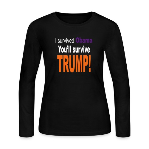 I survived Obama. You'll survive Trump - Women's Long Sleeve Jersey T-Shirt