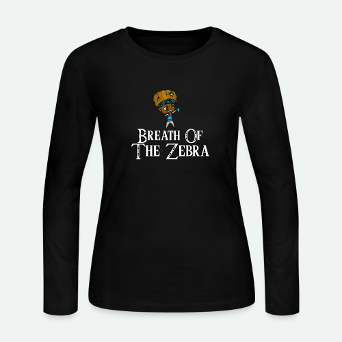 Breath Of The Zebra | Zebra Nation - Women's Long Sleeve Jersey T-Shirt