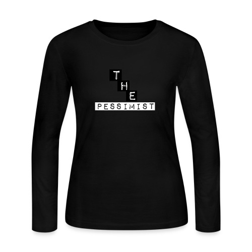 The pessimist Abstract Design - Women's Long Sleeve Jersey T-Shirt