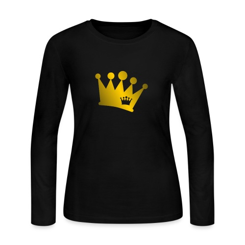 Double Crown gold - Women's Long Sleeve Jersey T-Shirt