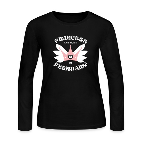Princess Are Born In February - Women's Long Sleeve Jersey T-Shirt