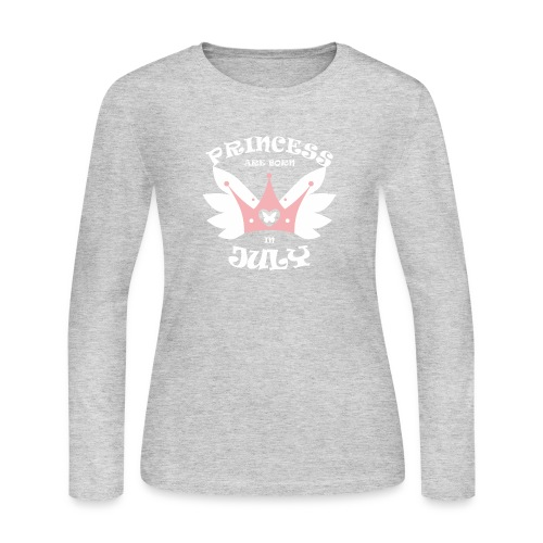 Princess Are Born In July - Women's Long Sleeve Jersey T-Shirt