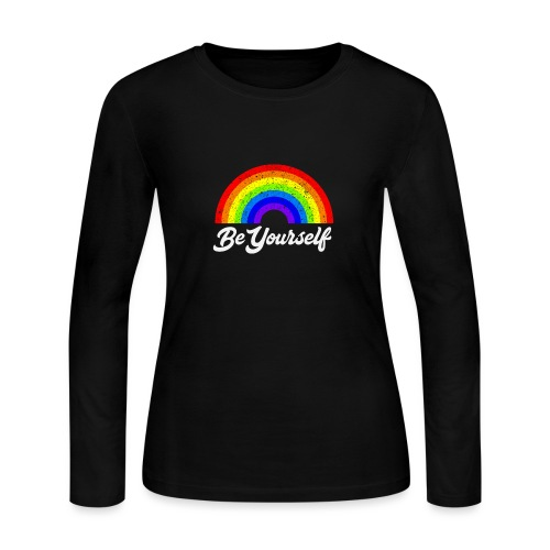 Be Yourself Pride Tee - Women's Long Sleeve Jersey T-Shirt