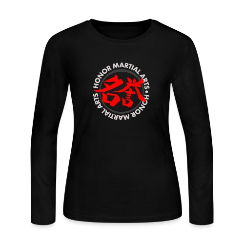 Honor Martial Arts Kanji Design Light Shirts - Women's Long Sleeve Jersey T-Shirt