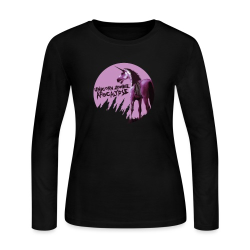 Unicorn Zombie Apocalypse - Women's Long Sleeve Jersey T-Shirt