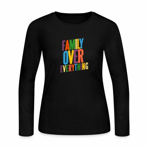 FAMILY OVER EVERYTHING - Women's Long Sleeve Jersey T-Shirt