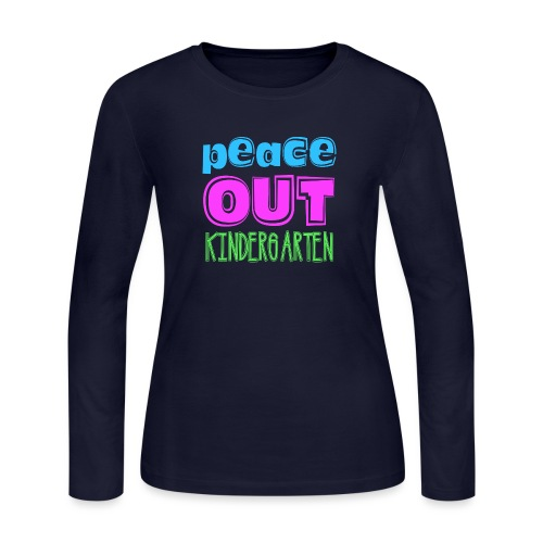 Kreative In Kinder Peace Out - Women's Long Sleeve Jersey T-Shirt