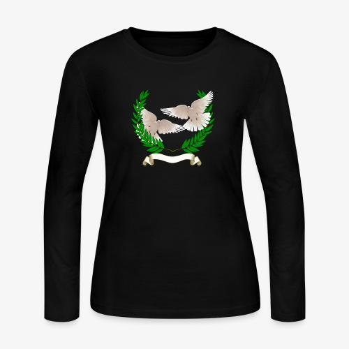 OLIVE BRANCH DOVES - Women's Long Sleeve Jersey T-Shirt