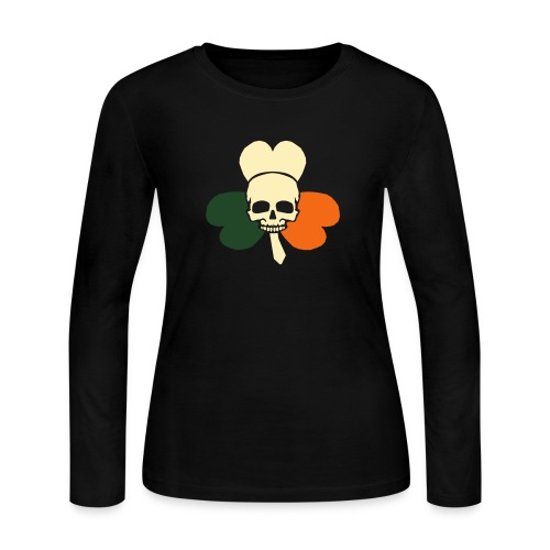 irish_skull_shamrock - Women's Long Sleeve Jersey T-Shirt