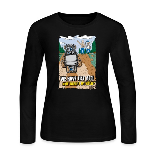 Beer Buggy Lift Off - Women's Long Sleeve Jersey T-Shirt