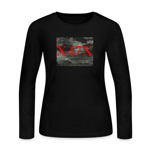 Watercolor black and white - Women's Long Sleeve Jersey T-Shirt