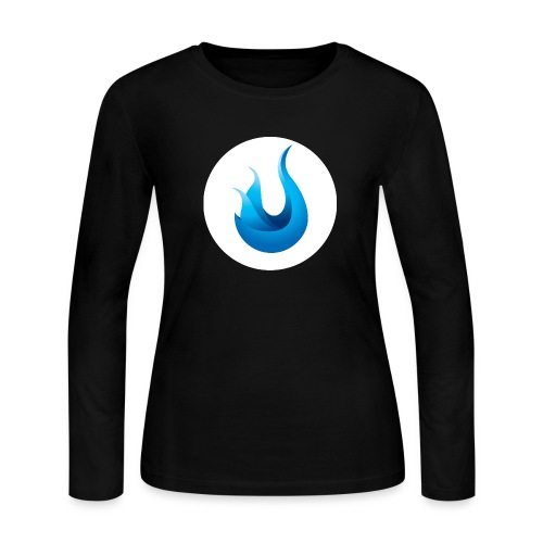 flame front png - Women's Long Sleeve Jersey T-Shirt
