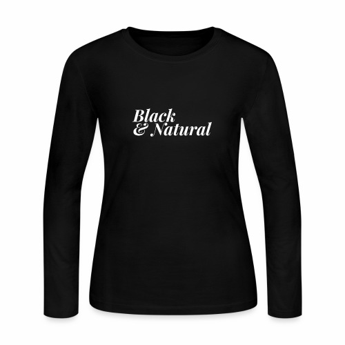 Black & Natural Women's Tee - Women's Long Sleeve Jersey T-Shirt