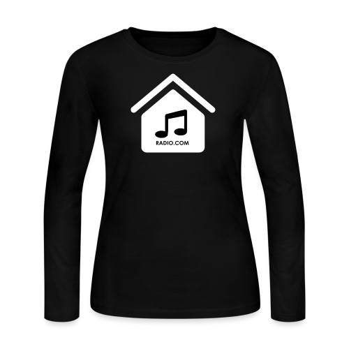 House Music Radio White black font no out line.png - Women's Long Sleeve Jersey T-Shirt