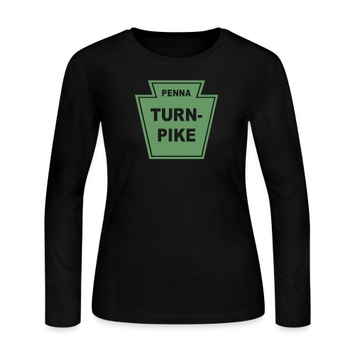 PA Turnpike for dark shirts - Women's Long Sleeve Jersey T-Shirt