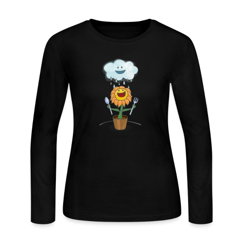 Cloud & Flower - Best friends forever - Women's Long Sleeve Jersey T-Shirt