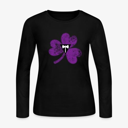 Lesbian Labrys Shamrock Pride Flag - Women's Long Sleeve Jersey T-Shirt