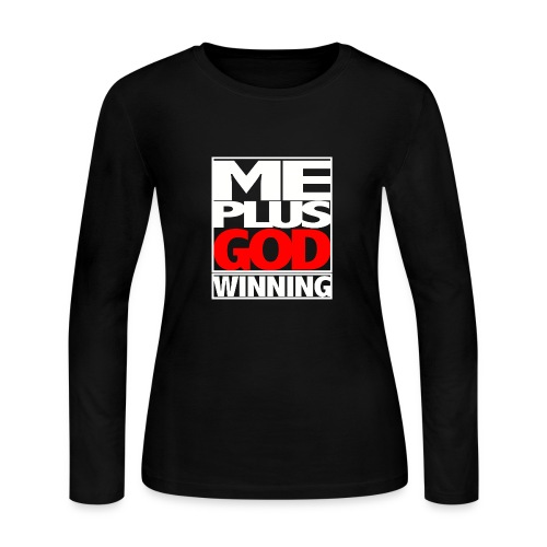ME GOD WIN WHT - Women's Long Sleeve Jersey T-Shirt